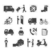 Conjunto de ícones de entrega vetor