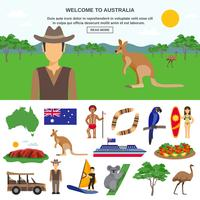 Conceito de viagem na Austrália vetor