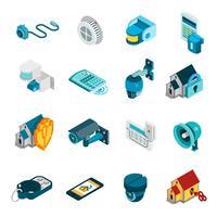 Conjunto de ícones do sistema de segurança vetor