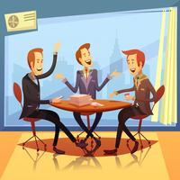 Ilustração de reunião de negócios