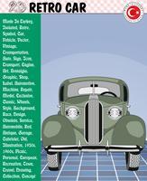 Carro, carro retro, histórias de carro, eps, vetor