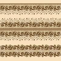 Tiras de renda para decoração e design. Modelo de design de moldura para cartão.