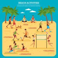 Infografia de atividades de praia