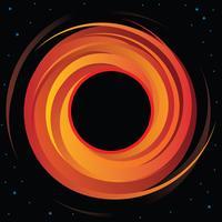 Gráfico de vetor de buraco negro supermassivo