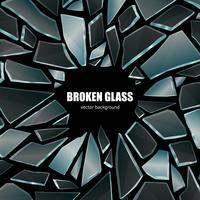 Poster de fundo de vidro preto quebrado vetor