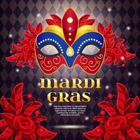 Cartaz brilhante do partido do carnaval vetor