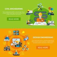 Banners de trabalho de projeto estrutural