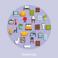 Ilustração do conceito de mobiliário vetor