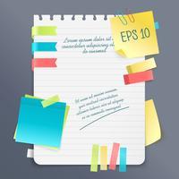 Composição da nota de papel