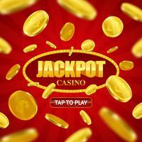 Projeto em linha do fundo do casino do jackpot vetor