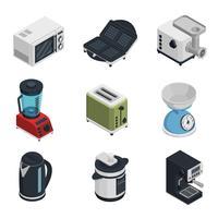 Conjunto de ícones de aparelhos de cozinha