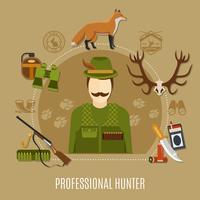 Conceito profissional de caçador vetor