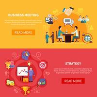 Banners horizontais de reuniões B2B vetor