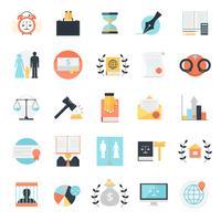 Coleção de ícones de profissão jurídica