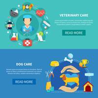 banners de cuidados com animais de estimação
