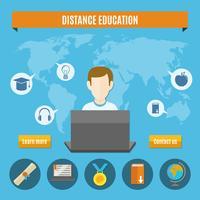 Composição de Educação a Distância vetor