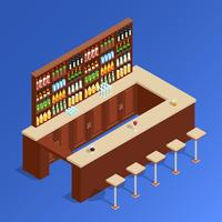 bar isométrica composição vetor