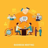 Composição de reunião de colaboração de trabalho em equipe vetor
