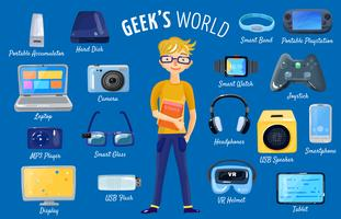 Mundo do conjunto de gadgets vetor