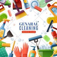 Quadro geral de limpeza vetor