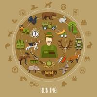 Ilustração do conceito de caça vetor