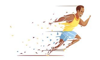 Conceito de retalhamento de atleta de pista