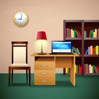 Ilustração de design de sala