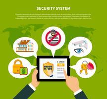 Ilustração do conceito de segurança