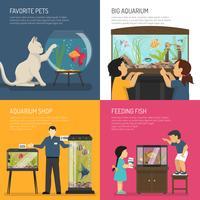 Conceito de Design de aquário vetor