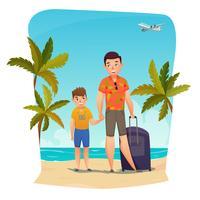 Composição de férias de verão vetor