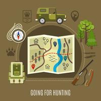 Indo para o conceito de caça vetor