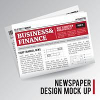 Jornal econômico realístico vetor