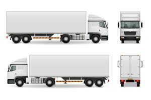 Maquete de publicidade de caminhão pesado realista