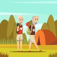 Pessoas idosas, fundo vetor