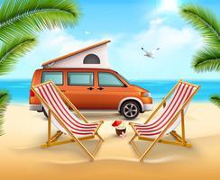 Cartaz de acampamento de verão