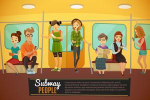 Ilustração de fundo do metrô vetor