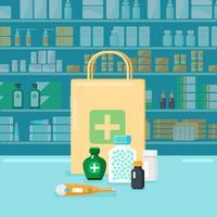 Conceito de farmácia colorido vetor