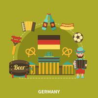 Composição de viagens turísticas da Alemanha vetor