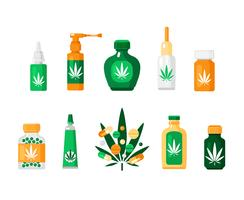 Composição Cannabis Farmácia vetor