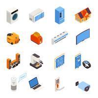 Coleção de ícones isométrica Smart Home Technology vetor