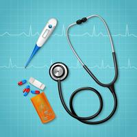 Composição de ferramentas de tratamento médico vetor