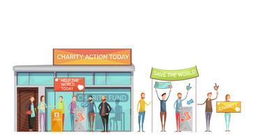 Conjunto de ícones decorativos de caridade