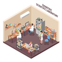 Composição do Ambiente do Laboratório de Ciências vetor