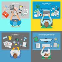 Profissões 2x2 Design Concept Set