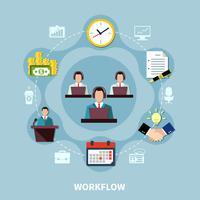 Composição de círculo de processo de negócios vetor