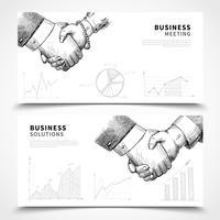 Conjunto de Banner de reunião de negócios vetor
