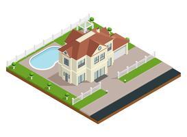 Composição de construção de subúrbio vetor