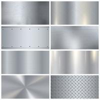 Textura de metal realista coleção de amostras 3D