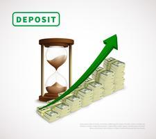 Modelo de negócio realista de prosperidade de dinheiro vetor