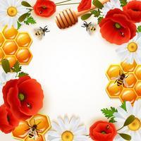 Fundo colorido mel vetor